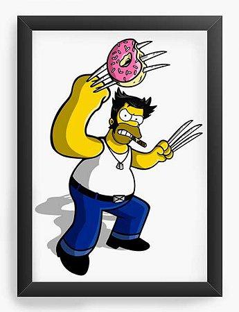 Quadro Decorativo A4 (33X24) Geekz Homer Simpsons - Loja Nerd e Geek - Presentes Criativos