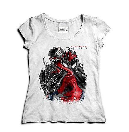 Camiseta Feminina Aracnídeo - Loja Nerd e Geek - Presentes Criativos
