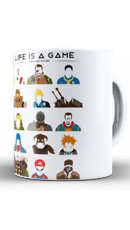 Caneca Geekz Life is a Game - Loja Nerd e Geek - Presentes Criativos