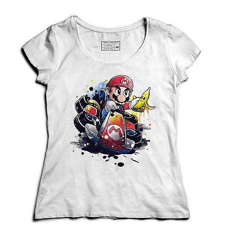 Camiseta Feminina Super Plumber Kart - Loja Nerd e Geek - Presentes Criativos