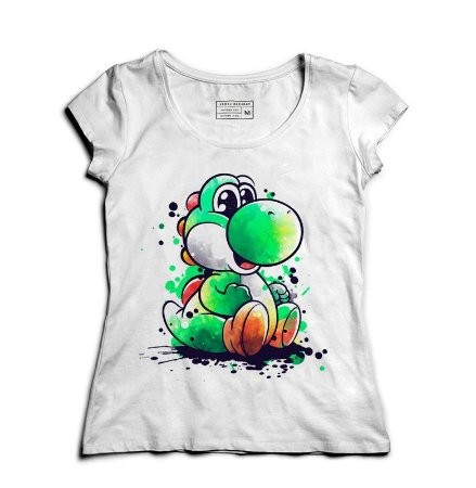 Camiseta Feminina Yoshi - Loja Nerd e Geek - Presentes Criativos