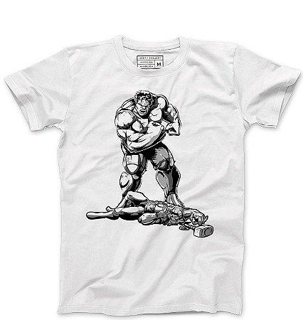 Camiseta Masculina Thor e Hulk - Loja Nerd e Geek - Presentes Criativos