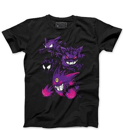 Camiseta Masculina Gengar - Loja Nerd e Geek - Presentes Criativos