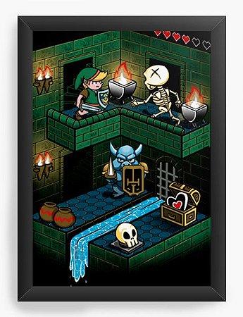 Quadro Decorativo A4 (33X24) Geekz Legend Elf - Loja Nerd e Geek - Presentes Criativos