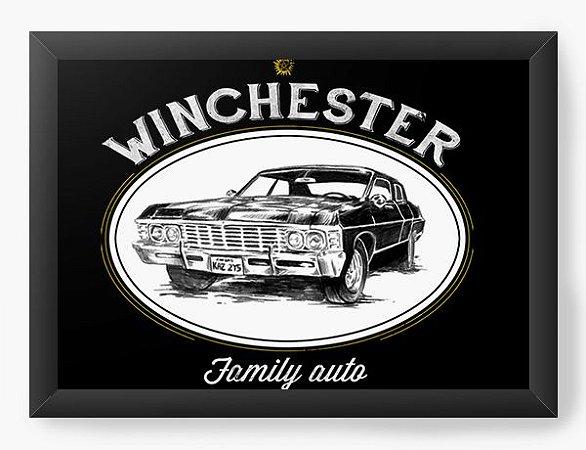 Quadro Decorativo A4 (33X24) Geekz Winchester Family - Loja Nerd e Geek - Presentes Criativos