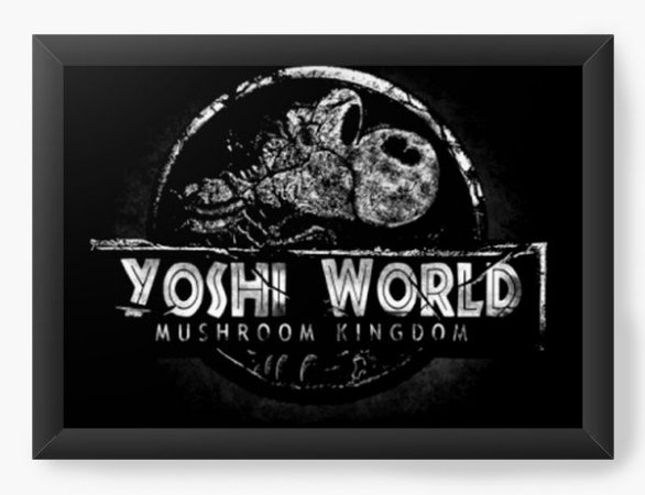 Quadro Decorativo A4 (33X24) Geekz Yoshi Word - Loja Nerd e Geek - Presentes Criativos