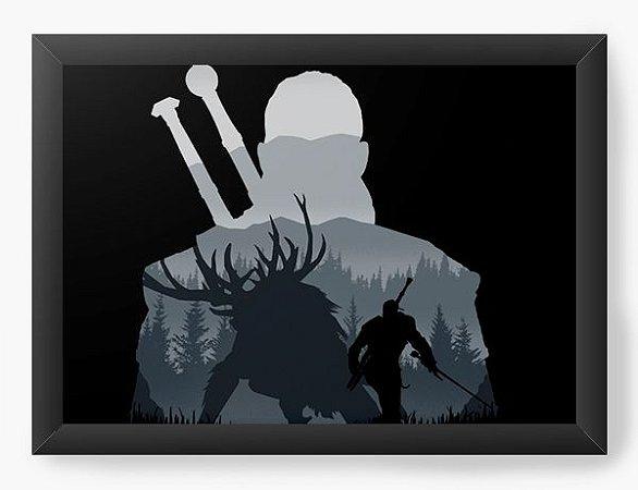Quadro Decorativo A4 (33X24) Geekz The Witcher - Loja Nerd e Geek - Presentes Criativos
