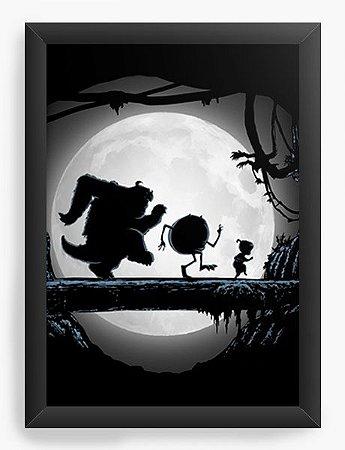 Quadro Decorativo A4 (33X24) Geekz Monstros SA - Loja Nerd e Geek - Presentes Criativos