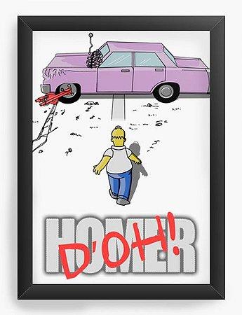 Quadro Decorativo A4 (33X24) Geekz Simpsons - Loja Nerd e Geek - Presentes Criativos