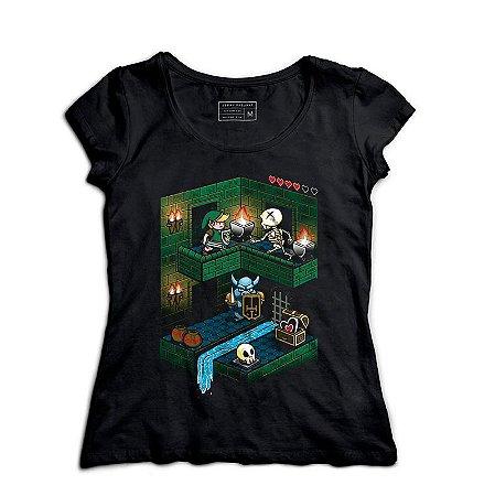 Camiseta Feminina The Legend of elda - Loja Nerd e Geek - Presentes Criativos