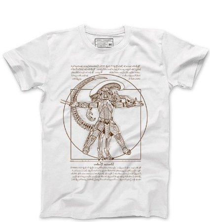 Camiseta Masculina Alien vs Predador - Loja Nerd e Geek - Presentes Criativos