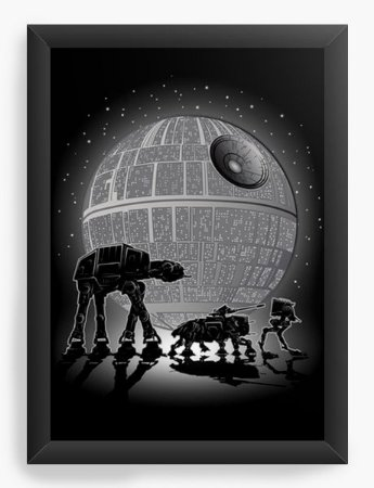 Quadro Decorativo A4 (33X24) Geekz Space Wars - Loja Nerd e Geek - Presentes Criativos