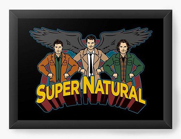 Quadro Decorativo A4 (33X24) Supernatural - Loja Nerd e Geek - Presentes Criativos