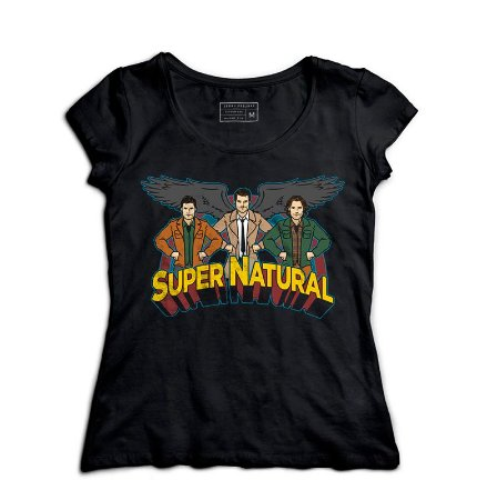 Camiseta Feminina Supernatural  - Loja Nerd e Geek - Presentes Criativos