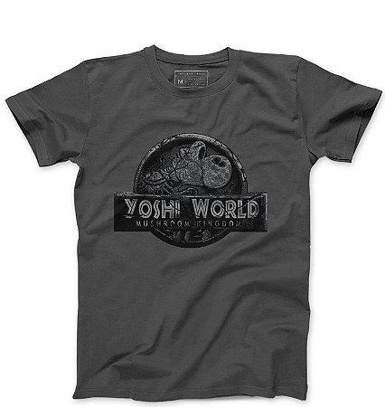 Camiseta Masculina Yoshi World - Loja Nerd e Geek - Presentes Criativos