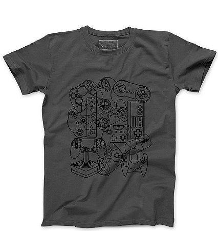 Camiseta Masculina Controles - Loja Nerd e Geek - Presentes Criativos