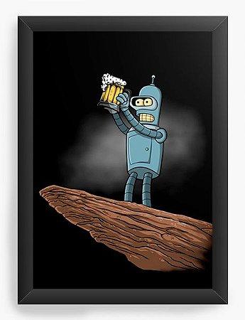 Quadro Decorativo A4 (33X24) The Robo Beer - Loja Nerd e Geek - Presentes Criativos