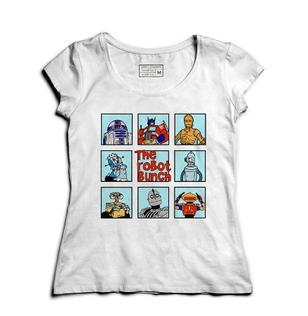 Camiseta Feminina The Robot - Loja Nerd e Geek - Presentes Criativos