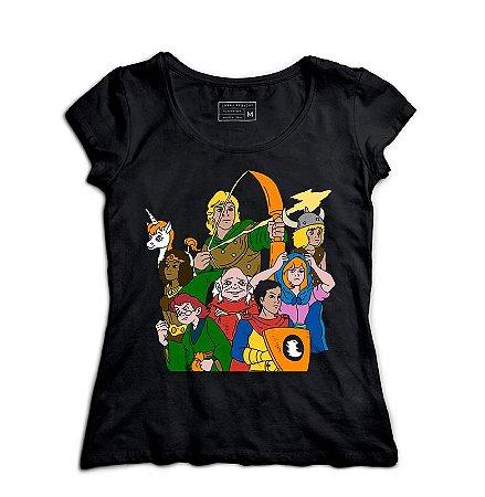Camiseta Feminina Caverna do Dragão - Loja Nerd e Geek - Presentes Criativos