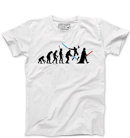 Camiseta Masculina Space Wars Evolution - Loja Nerd e Geek - Presentes Criativos