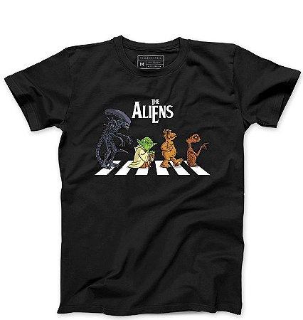 Camiseta Masculina The Aliens - Loja Nerd e Geek - Presentes Criativos