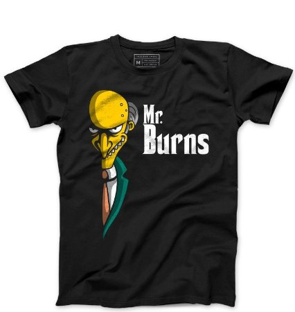 Camiseta Masculina Mr. Burns - Loja Nerd e Geek - Presentes Criativos