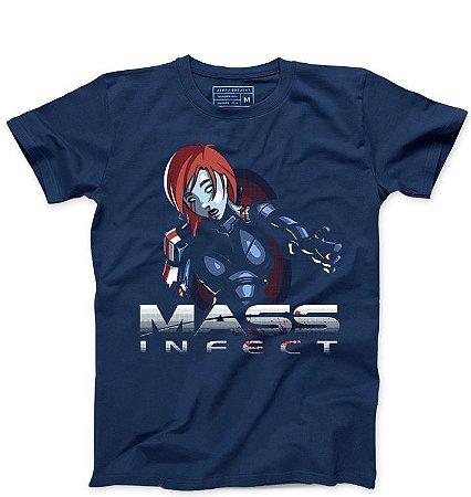 Camiseta Masculina Mass Infect   - Loja Nerd e Geek - Presentes Criativos