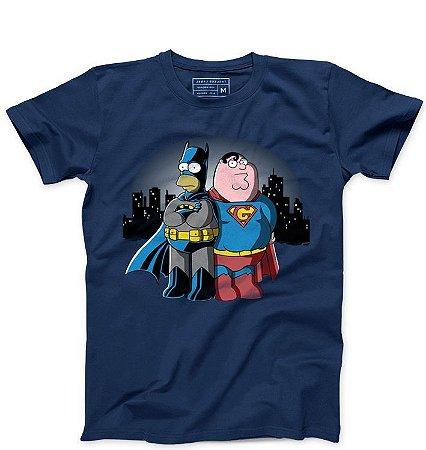 Camiseta Masculina Homer vs. SuperGriffin   - Loja Nerd e Geek - Presentes Criativos