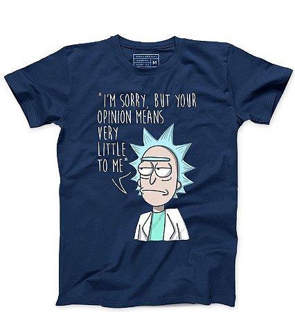 Camiseta Masculina Opinião de Rick   - Loja Nerd e Geek - Presentes Criativos
