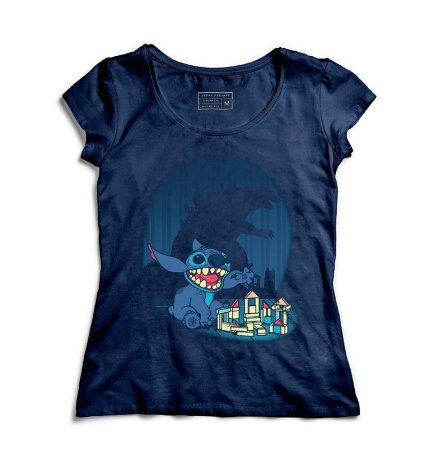 Camiseta Feminina Poderoso Stitch - Loja Nerd e Geek - Presentes Criativos
