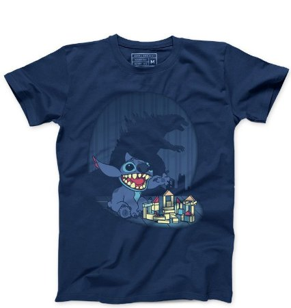 Camiseta Masculina Poderoso Stitch - Loja Nerd e Geek - Presentes Criativos