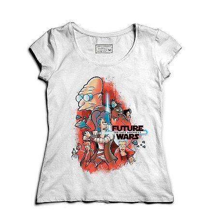 Camiseta Feminina Space wars Future - Loja Nerd e Geek - Presentes Criativos