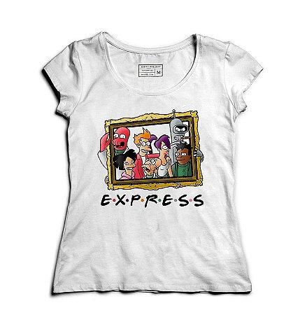 Camiseta Feminina Express Friends - Loja Nerd e Geek - Presentes Criativos