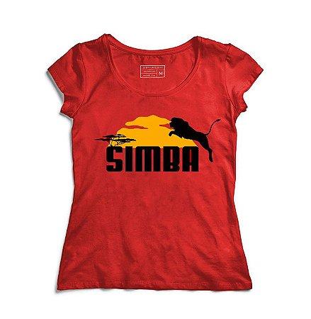 Camiseta Feminina Rei da Selva - Loja Nerd e Geek - Presentes Criativos
