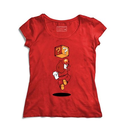 Camiseta Feminina Plumber Fire - Loja Nerd e Geek - Presentes Criativos