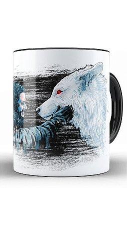 Caneca Warrior Wolf  - Loja Nerd e Geek - Presentes Criativos