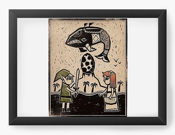 Quadro Decorativo A4 (33X24) My Hero Elf - Loja Nerd e Geek - Presentes Criativos