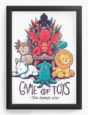 Quadro Decorativo A4 (33X24) Jogo dos brinquedos - Loja Nerd e Geek - Presentes Criativos
