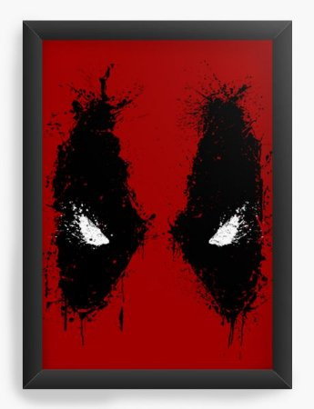 Quadro Decorativo A4 (33X24) Red Eyes- Loja Nerd e Geek - Presentes Criativos