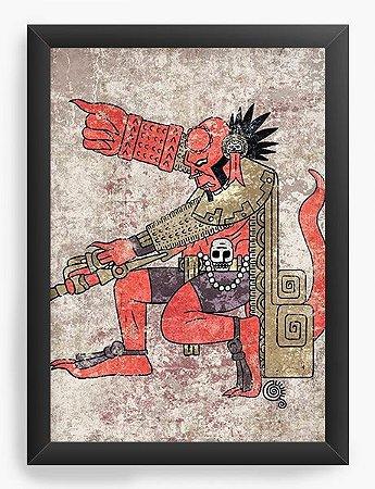 Quadro Decorativo A4 (33X24) Hell Man - Loja Nerd e Geek - Presentes Criativos