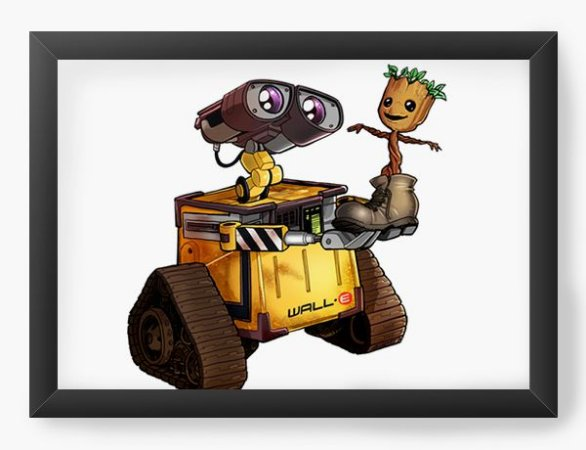 Quadro Decorativo A4 (33X24) Robo and Tree - Loja Nerd e Geek - Presentes Criativos