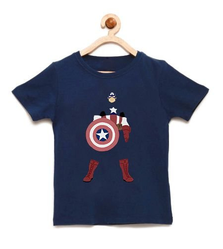 Camiseta Infantil Shield Man - Loja Nerd e Geek - Presentes Criativos