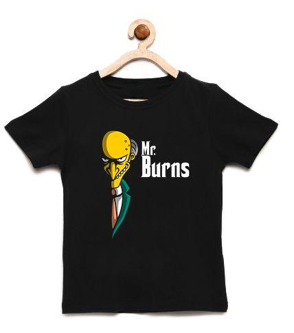 Camiseta Infantil Burns - Loja Nerd e Geek - Presentes Criativos