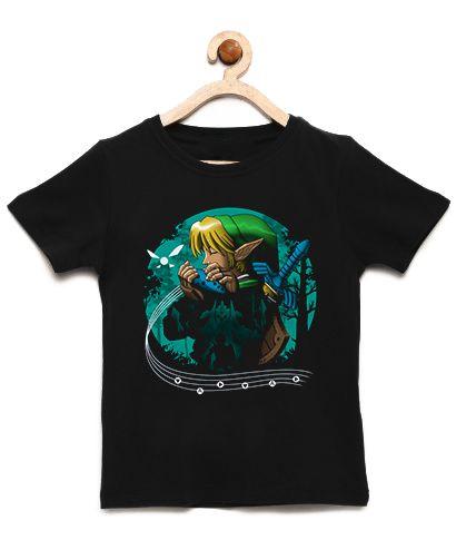 Camiseta Infantil Elf Music  - Loja Nerd e Geek - Presentes Criativos