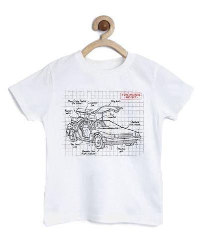 Camiseta Infantil Carro do Futuro - Loja Nerd e Geek - Presentes Criativos