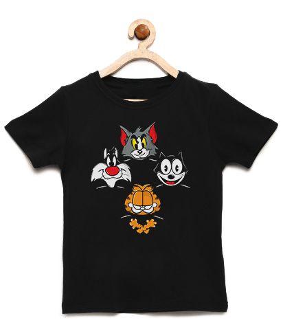 Camiseta Infantil Super Cats - Loja Nerd e Geek - Presentes Criativos