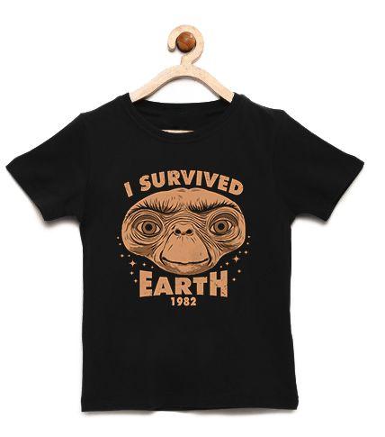 Camiseta Infantil Eu Sobrevivi - Loja Nerd e Geek - Presentes Criativos