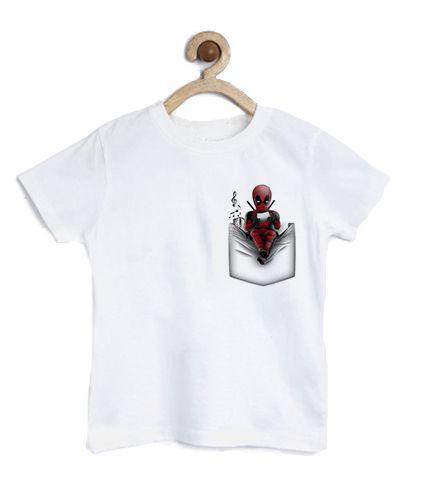 Camiseta Infantil Bolso Ninja - Loja Nerd e Geek - Presentes Criativos