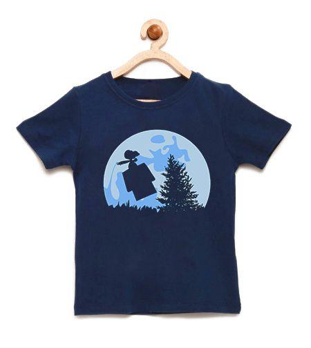 Camiseta Infantil Mundo da Lua - Loja Nerd e Geek - Presentes Criativos
