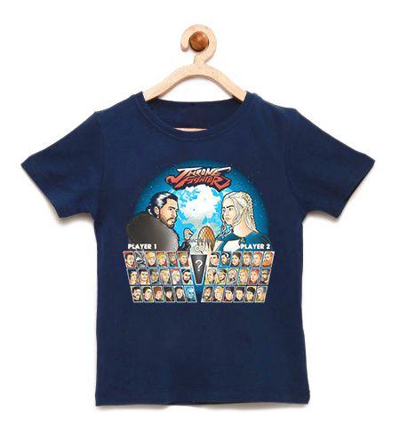 Camiseta Infantil Throne Fighter - Loja Nerd e Geek - Presentes Criativos